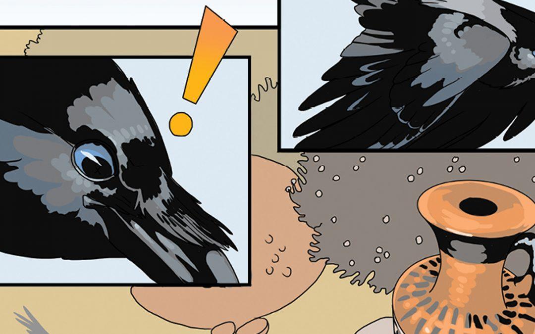 Aesop's Crow Fable Comic